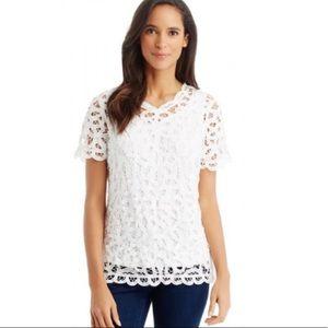 J. McLaughlin callista lace blouse